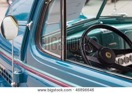 1938 Blue Chevy Coupe Drivers Window