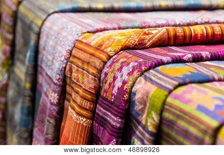 Closeup Fabric Thailand Northeast Style