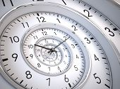stock photo of clocks  - Infinity Time Spiral - JPG