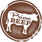 Prime Beef Menu Design Stamp