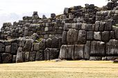 View Of Sacsayhuaman Wall, In Cuzco, Peru.