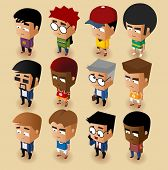 image of midget  - People Men Isometric Set - JPG