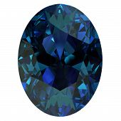 stock photo of alexandrite  - Gemstone on white background  - JPG