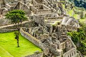stock photo of andes  - Machu Picchu the ancient Inca city in the Andes Peru - JPG