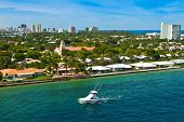 stock photo of inlet  - City and coastline of the city of Fort Lauderdale Florida - JPG