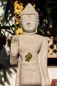 picture of raja  - Buddha Carved Marble in Wat Raja Mon Thian  - JPG