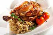 picture of roasted pork  - Hot Meat Dishes  - JPG