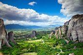 Monastery on top of rock in Meteora, Greece