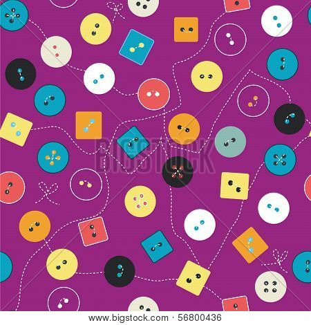 Buttons seamless pattern funny design