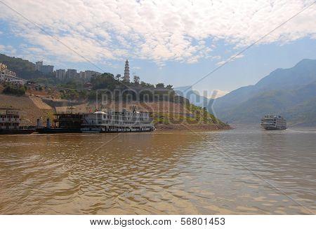 Boats on the Yangtse River