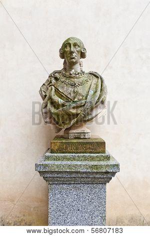 Bust Of Spanish King Charles Iii In Alcazar Castle, Segovia