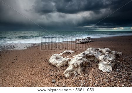 Storm Over Atlantic Ocean Coast