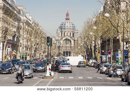 View On Saint - Augustin Church. Paris, France.