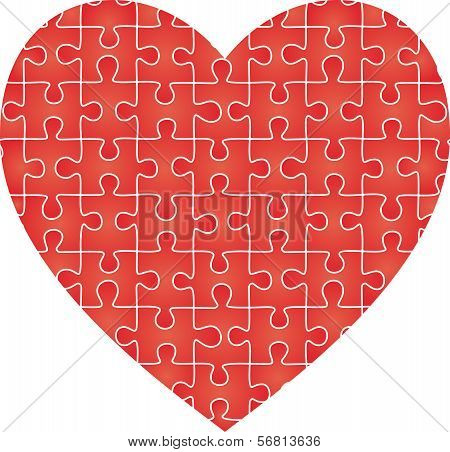 Puzzle heart pattern. Vector illustration