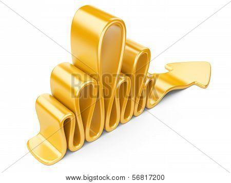 Yellow Wavy Arrow