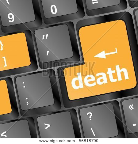 Death Button On Computer Keyboard Pc Key