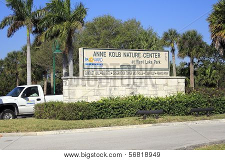 Street Entrance To Anne Kolb Nature Center