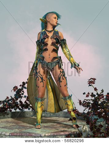 Fairy With Mohawk 3D Cg