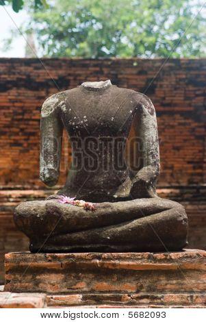 Beheaded Buddha Image In Ayuttaya, Thailand
