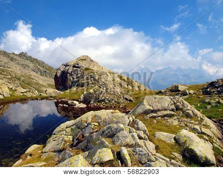 Mountain Lake In Autumn In The Brenta Dolomites In The Area Of ??madonna Di Campiglio