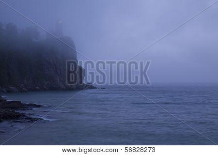 Split Rock Lighthouse Fog