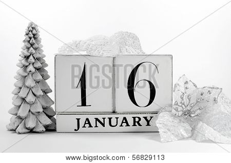 Save the date shabby chic for individual January days