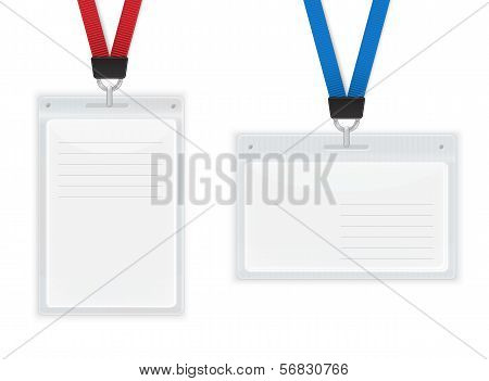 Plastic ID Badges.