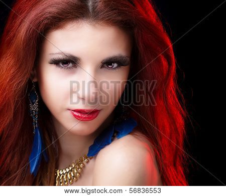 Beautiful portrait Fashion Glamour Girl