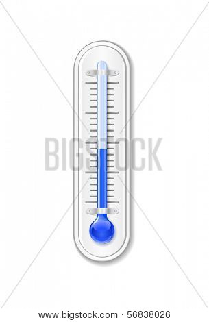 Outdoor thermometer. Vector illustration.