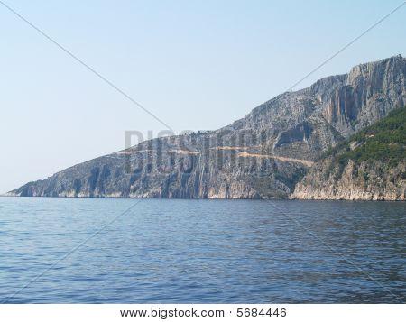 mountain coastline