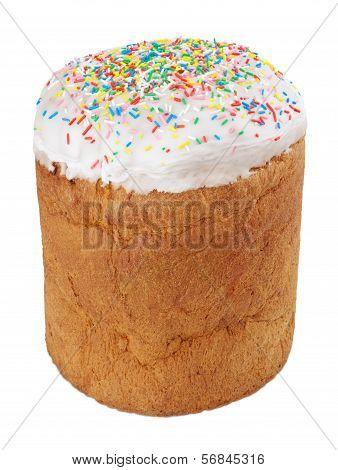 Single Easter Cake Isolated On White