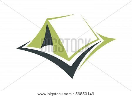 Green Tent For An Eco Holiday