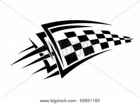 Tattoo With Racing Flag