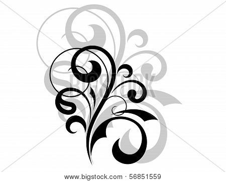 Ornate Scrolling Design Element
