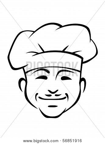 Happy Smiling Chef With A Little Moustache