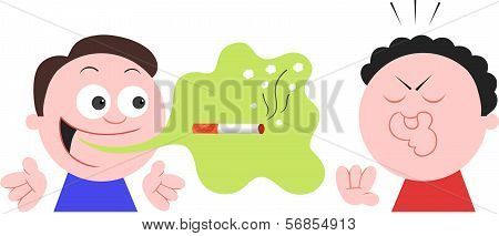 Smoker Man With Bad Breath Halitosis