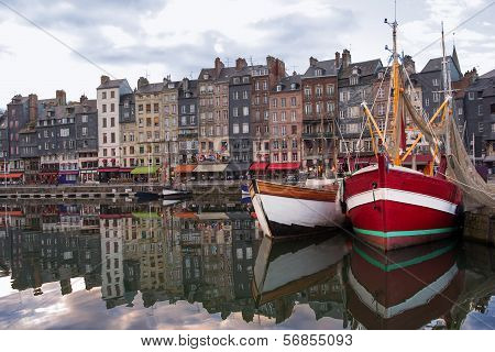 Honfleur Normandy, France Summer Evening Harbor View