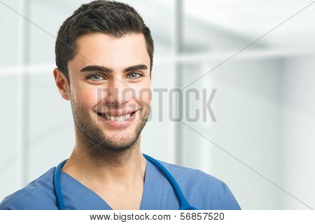 Portrait of an handsome doctor