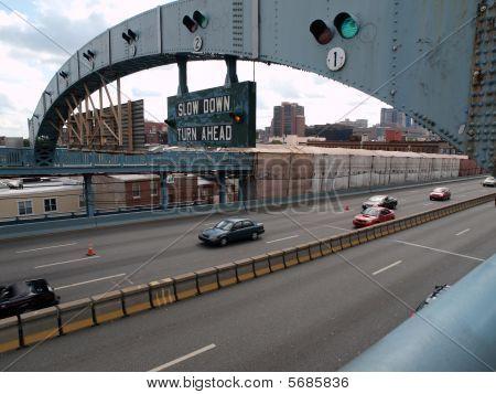 Light Traffic On Old Bridge
