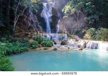 Tad Kwang Sri Waterfall , Luang Prabang Province, Loa.