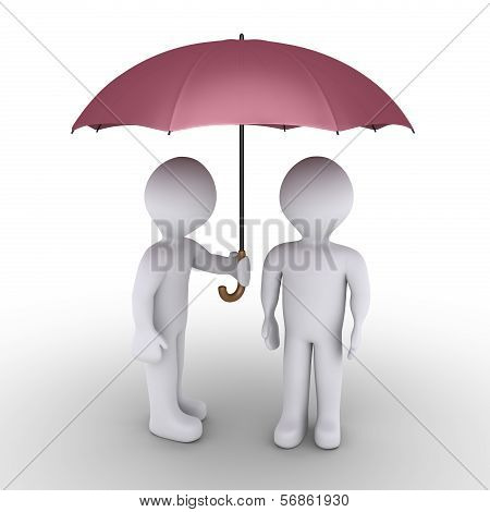Person offering an umbrella