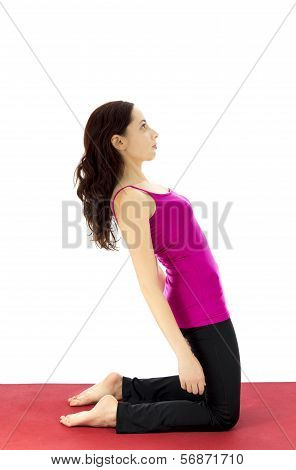 Woman Strengthening The Upper Leg Muscles