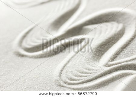 Wavy Line Draw In The Sand