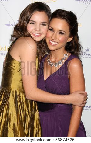 LOS ANGELES - JAN 11:  Bailee Madison, Lacey Chabert at the Hallmark Winter TCA Party at The Huntington Library on January 11, 2014 in San Marino, CA