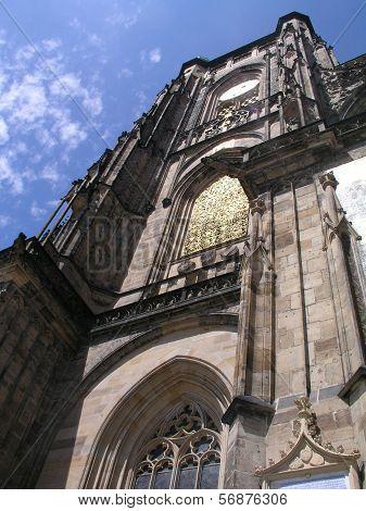 Detail of Saint Vitus Cathedral tower, Prague