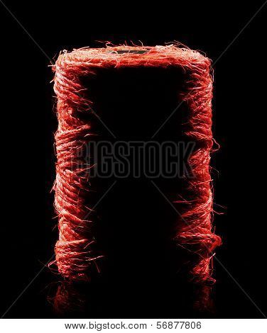 Red Yarn Coil