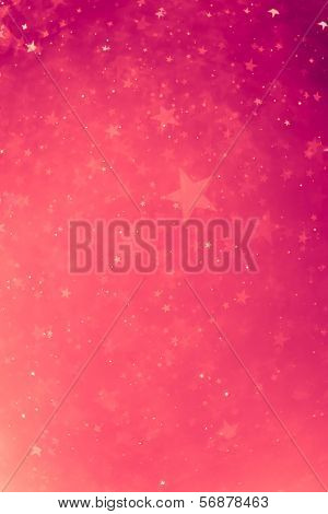 pink glowing stars background