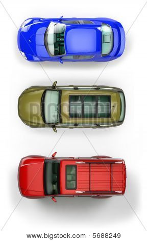 Set Of Top-view Cars