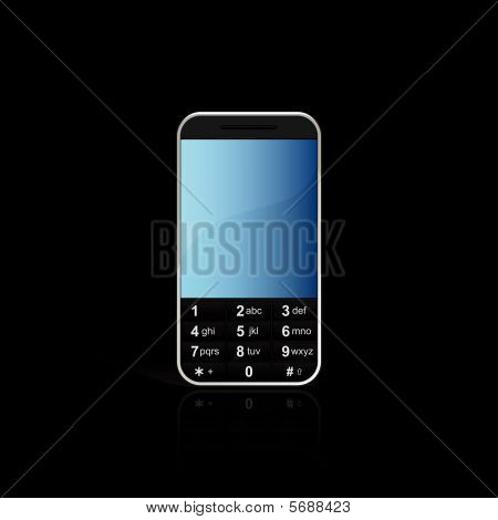 Mobile phone with reflection