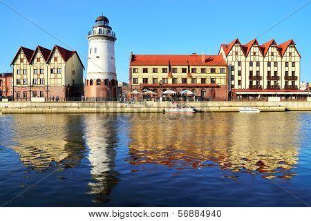 Fishing Village On A Summer Evening.. Kaliningrad (until 1946 Koenigsberg), Russia